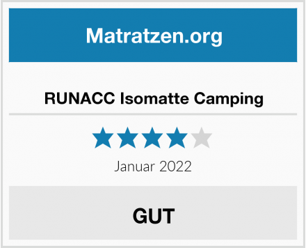 RUNACC Isomatte Camping Test