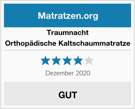 Traumnacht Orthopädische Kaltschaummatratze Test