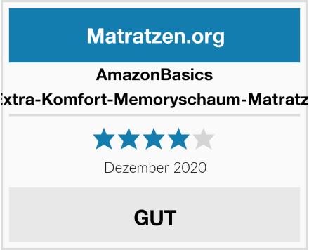 AmazonBasics Extra-Komfort-Memoryschaum-Matratze Test