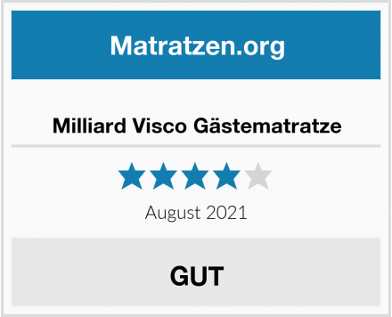 Milliard Visco Gästematratze Test