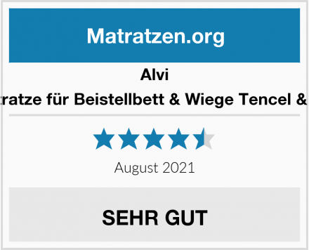 Alvi Matratze für Beistellbett & Wiege Tencel & Dry Test
