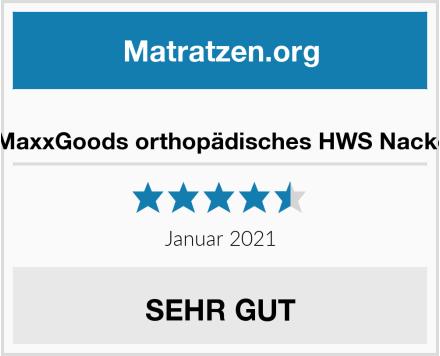 Das Original MaxxGoods orthopädisches HWS Nackenstützkissen Test