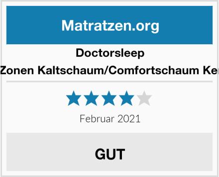 Doctorsleep medidoc 7 Zonen Kaltschaum/Comfortschaum Kern Matratze Test