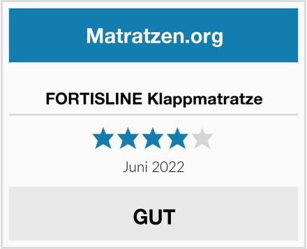 FORTISLINE Klappmatratze Test