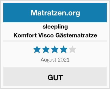 sleepling Komfort Visco Gästematratze Test