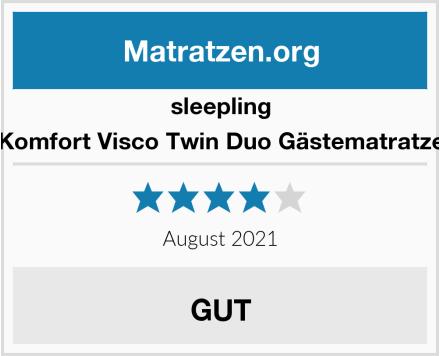 sleepling Komfort Visco Twin Duo Gästematratze Test