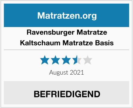Ravensburger Matratze Kaltschaum Matratze Basis Test