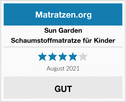 Sun Garden Schaumstoffmatratze für Kinder Test