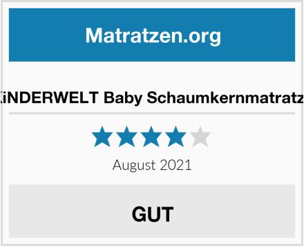 KiNDERWELT Baby Schaumkernmatratze Test