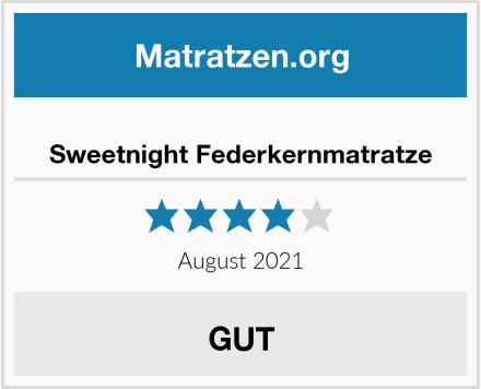 Sweetnight Federkernmatratze Test