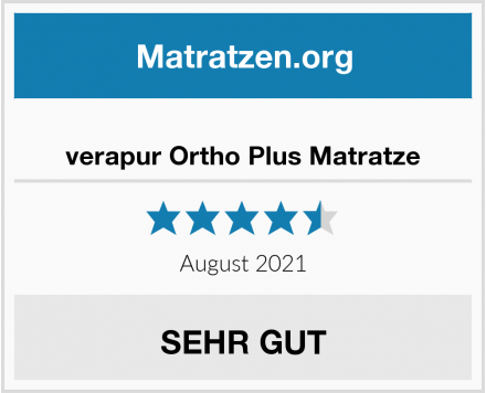 verapur Ortho Plus Matratze Test