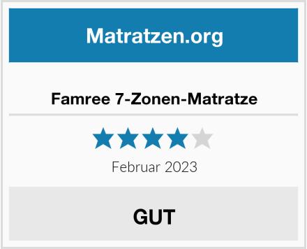Famree 7-Zonen-Matratze Test