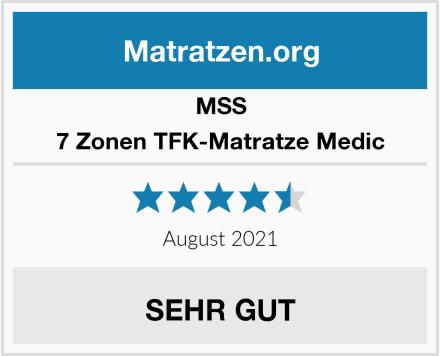 MSS 7 Zonen TFK-Matratze Medic Test