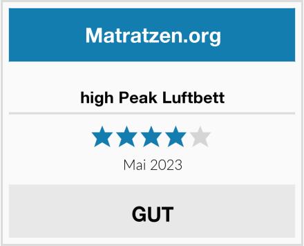 high Peak Luftbett Test