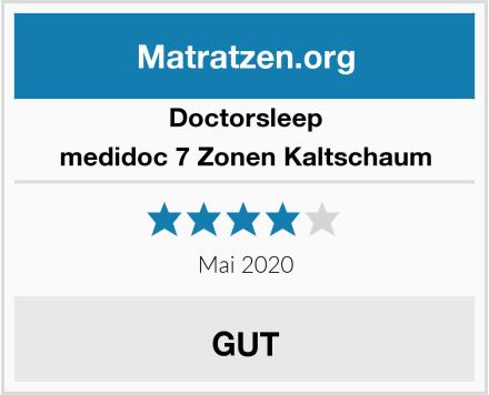 Doctorsleep medidoc 7 Zonen Kaltschaum Test